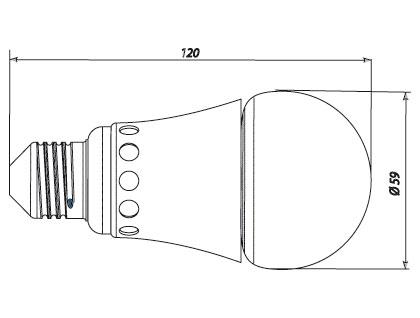 схема светодиодной лампы.
